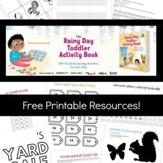 Printable Toddler Activities - from The Rainy Day Toddler Activity Book