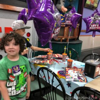 J.C. at his Chuck E Cheese Birthday Party