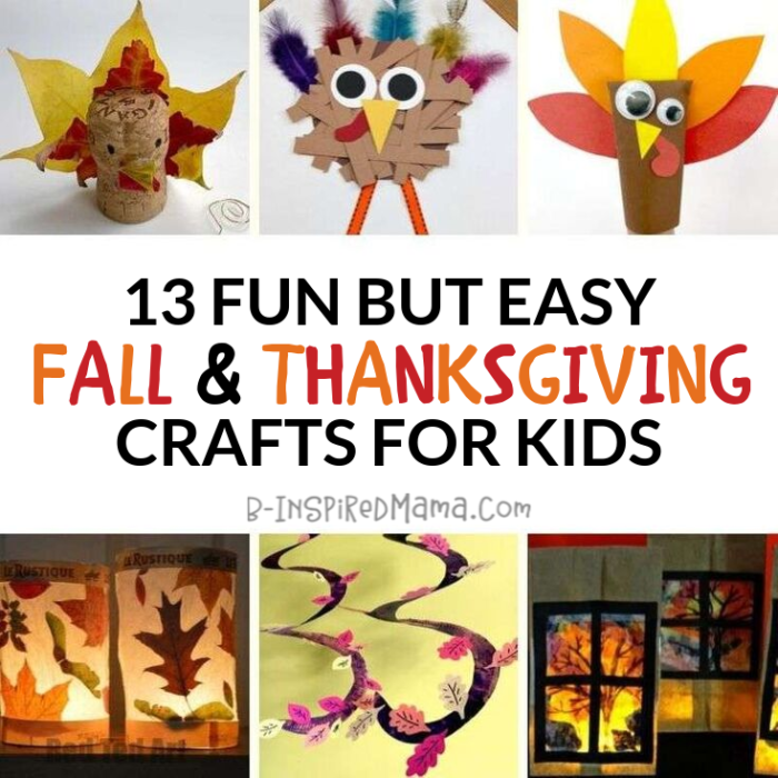 13 Fun But Easy Fall And Thanksgiving Crafts For Kids B Inspired Mama