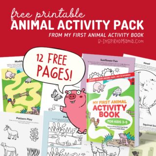 12-Page FREE Printable Animal Activity Pack - a sample from My First Animal Activity Book!