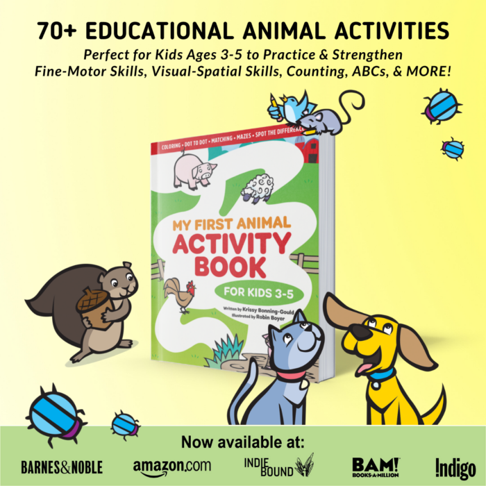My First Animal Activity Book: For Kids 3-5!
