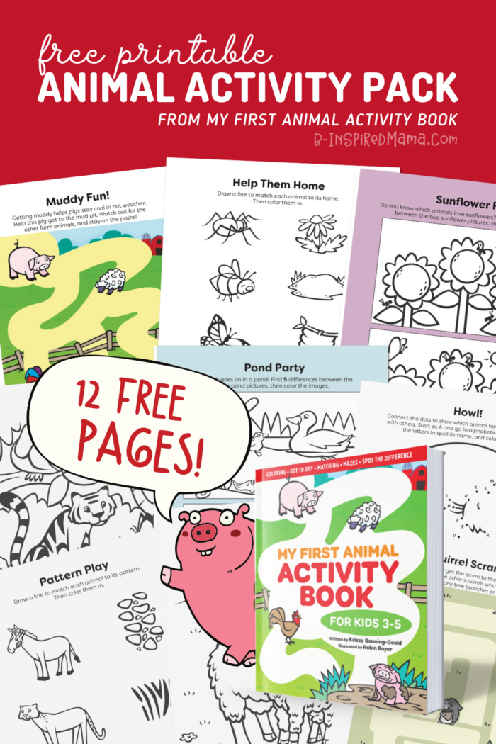 12-Page FREE Printable Animal Activity Pack