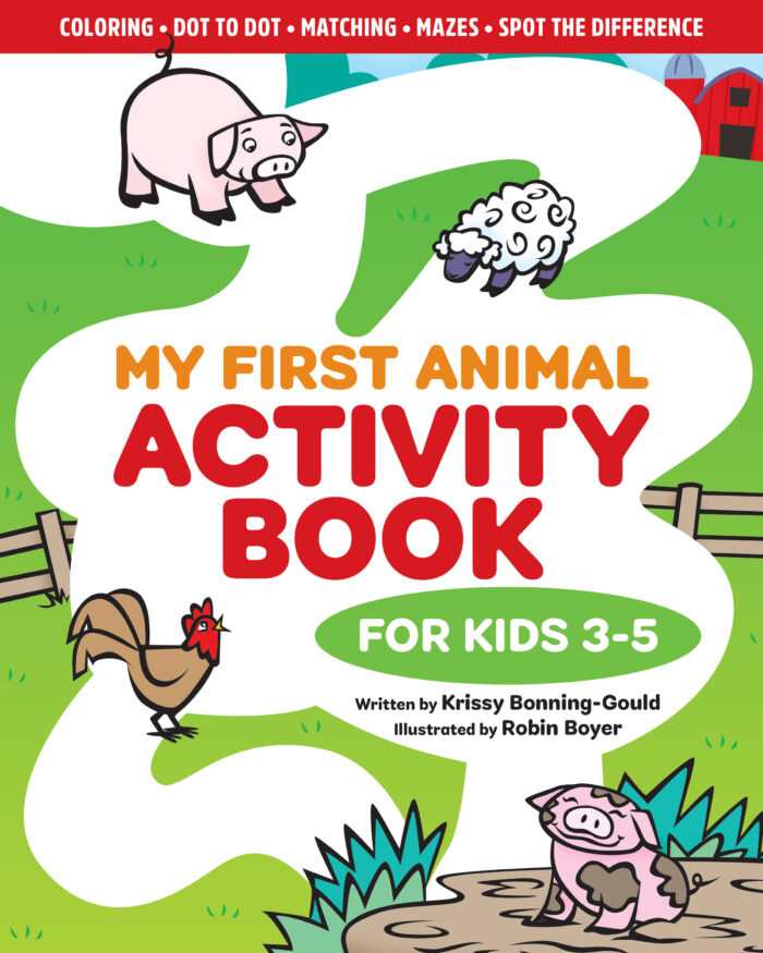 A look at the cover of My First Animal Activity Book: For Kids 3-5!
